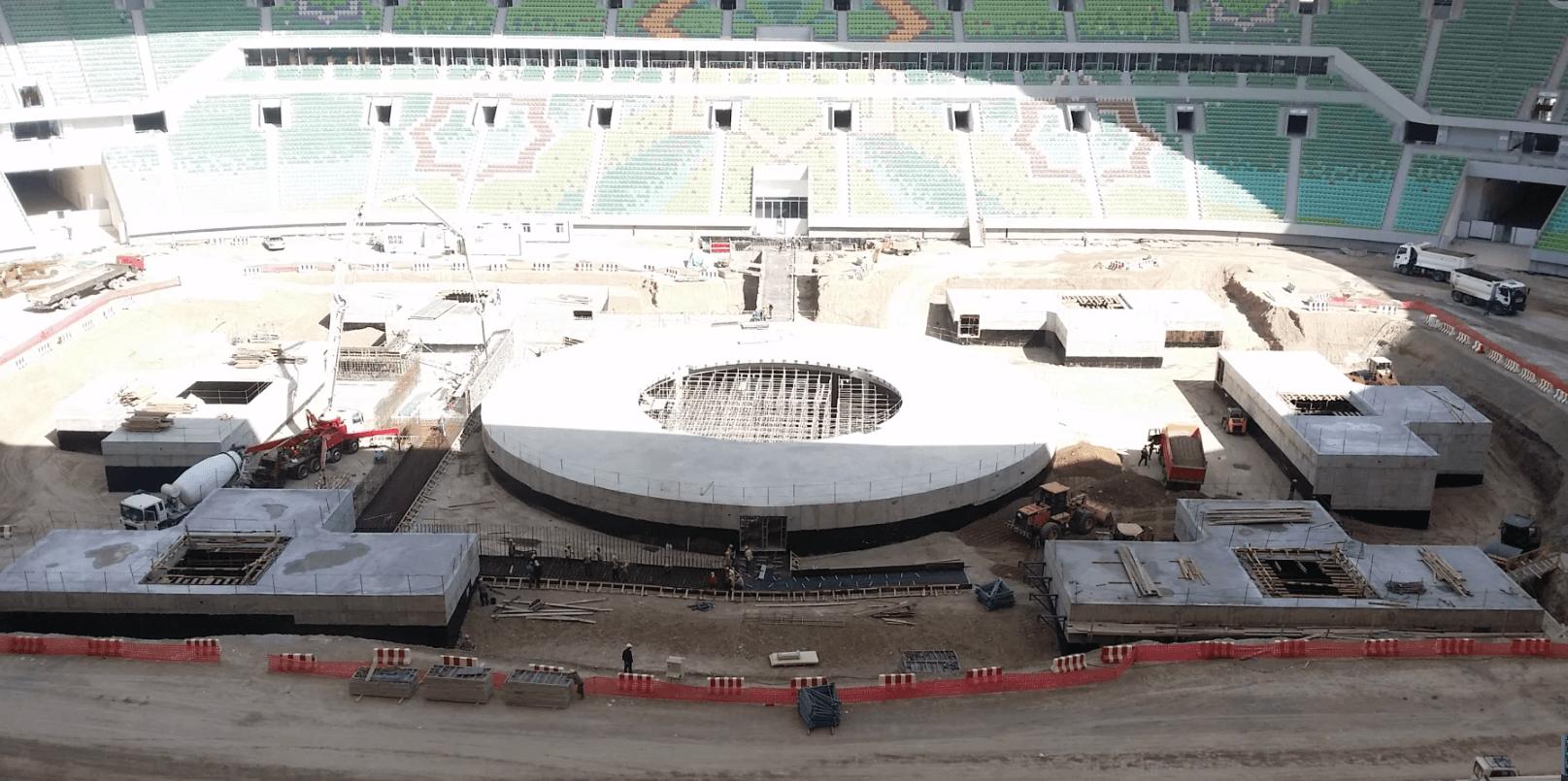 The undergroud chamber - Ashgabat stadium