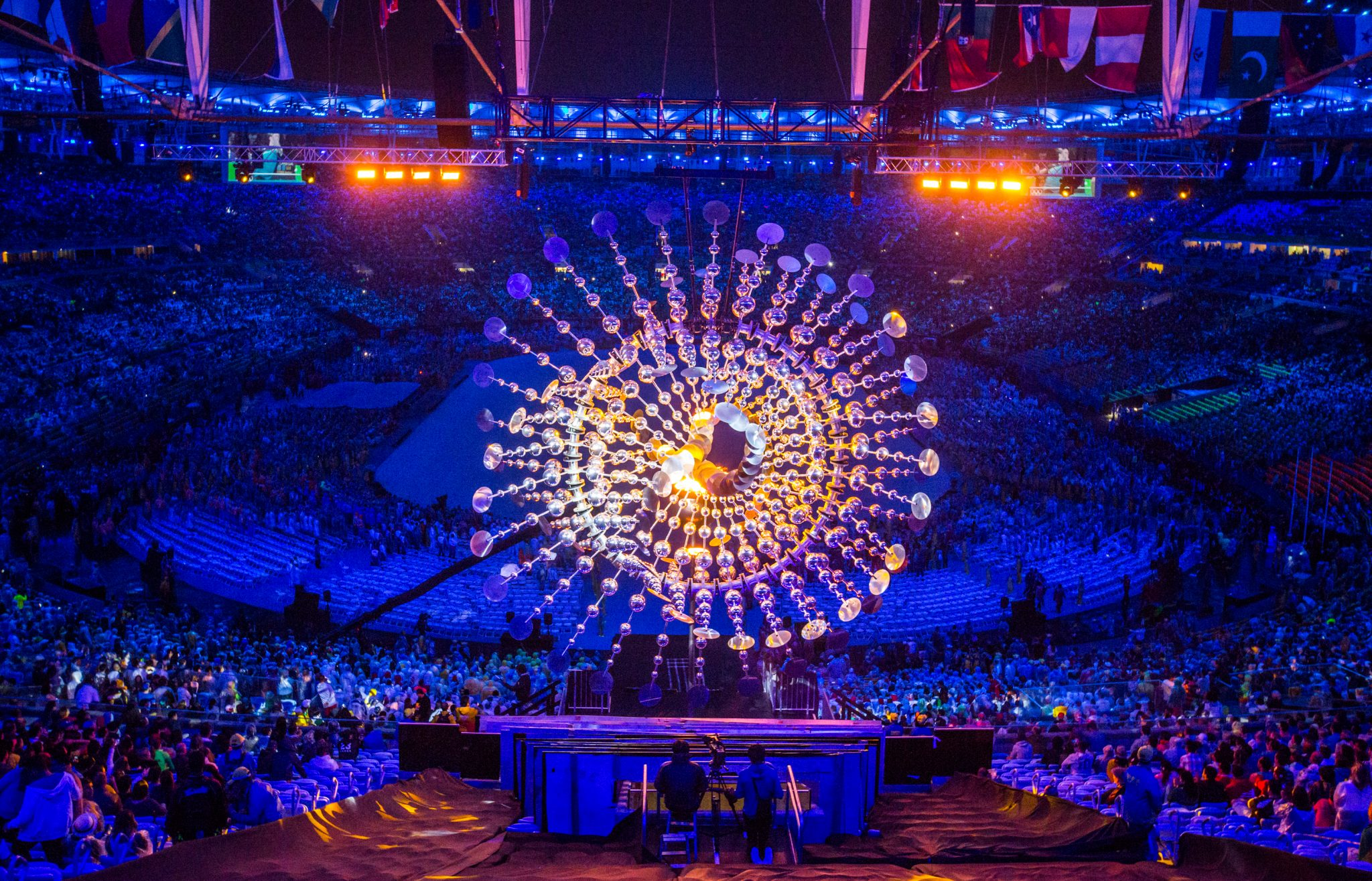 The Sun during the opening ceremony