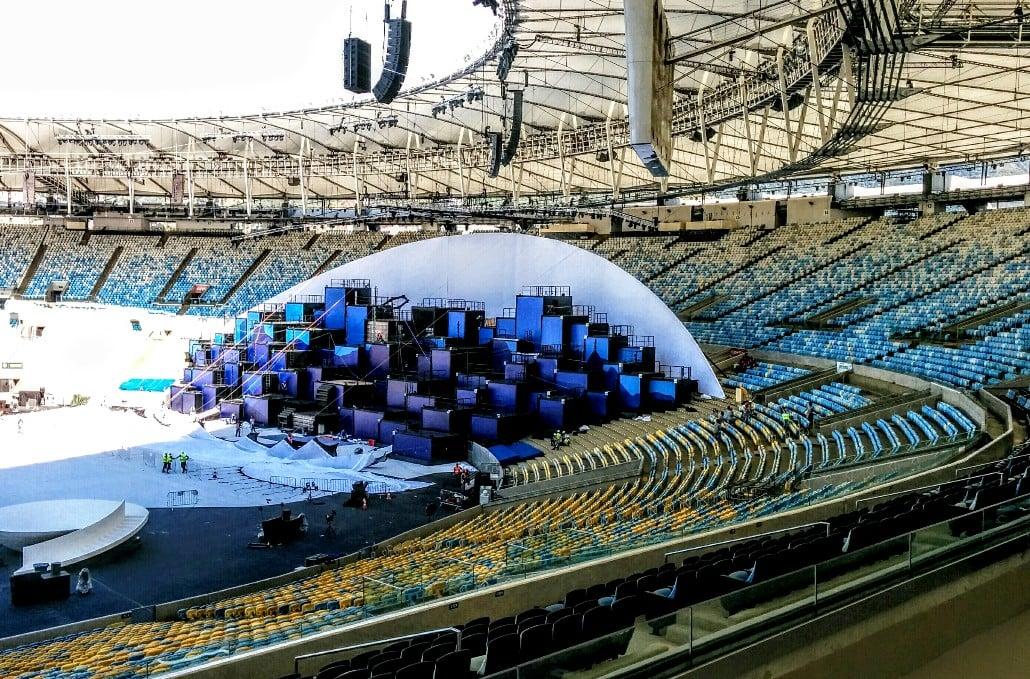 Rio olympics - Cyclorama installation 2