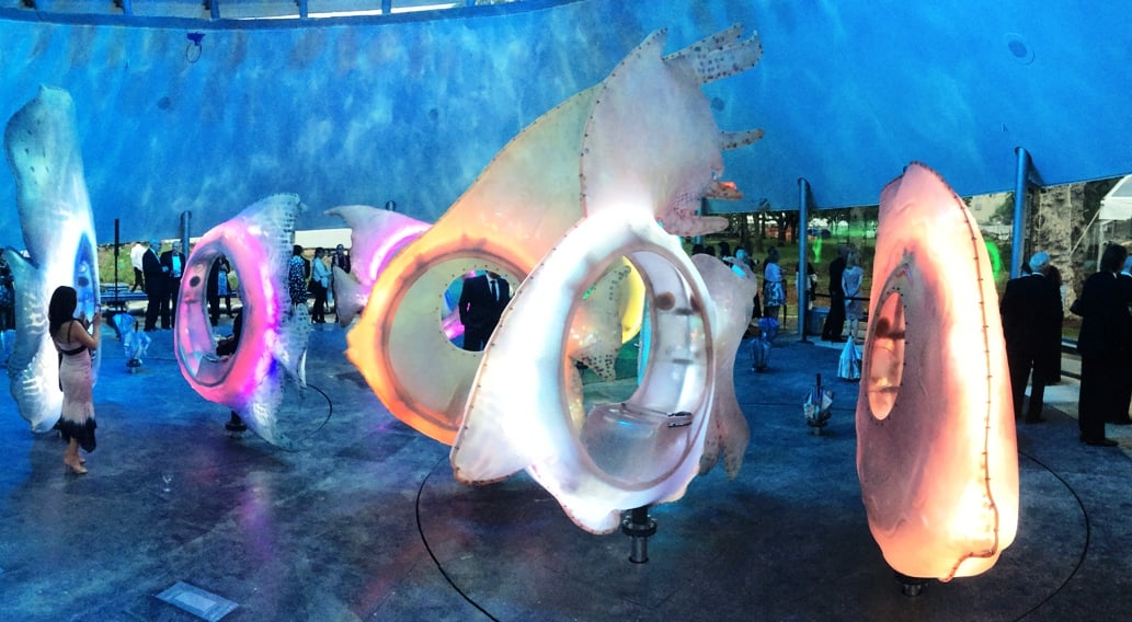 Fishes & Turntable – Seaglass Carousel – Battery Park, NY