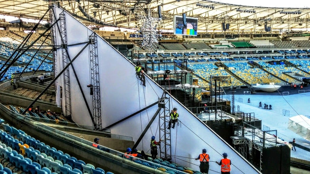 Rio olympics - Cyclorama installation