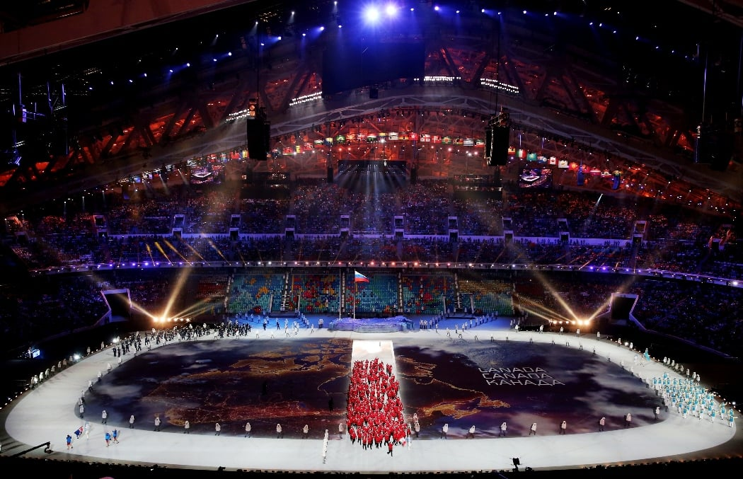 Stage view during opening ceremony