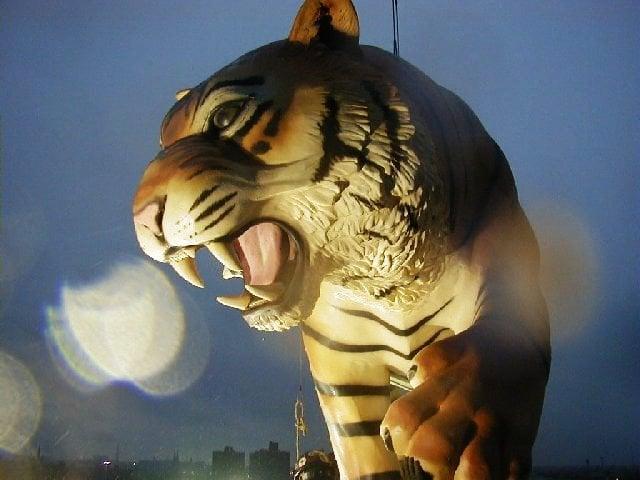 Main Entrance & Tiger Sculptures – Comerica Park Stadium