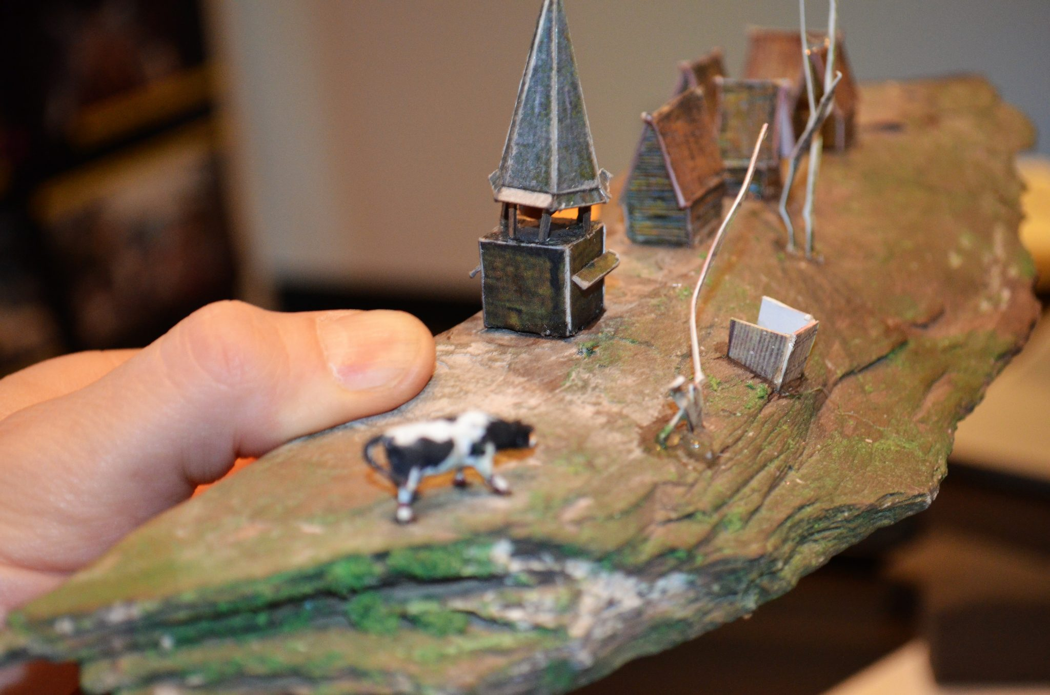Island miniature model