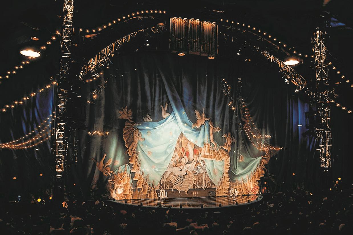 Diamond on stage