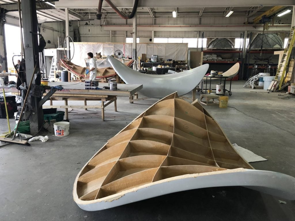 Propeller Blade in workshop