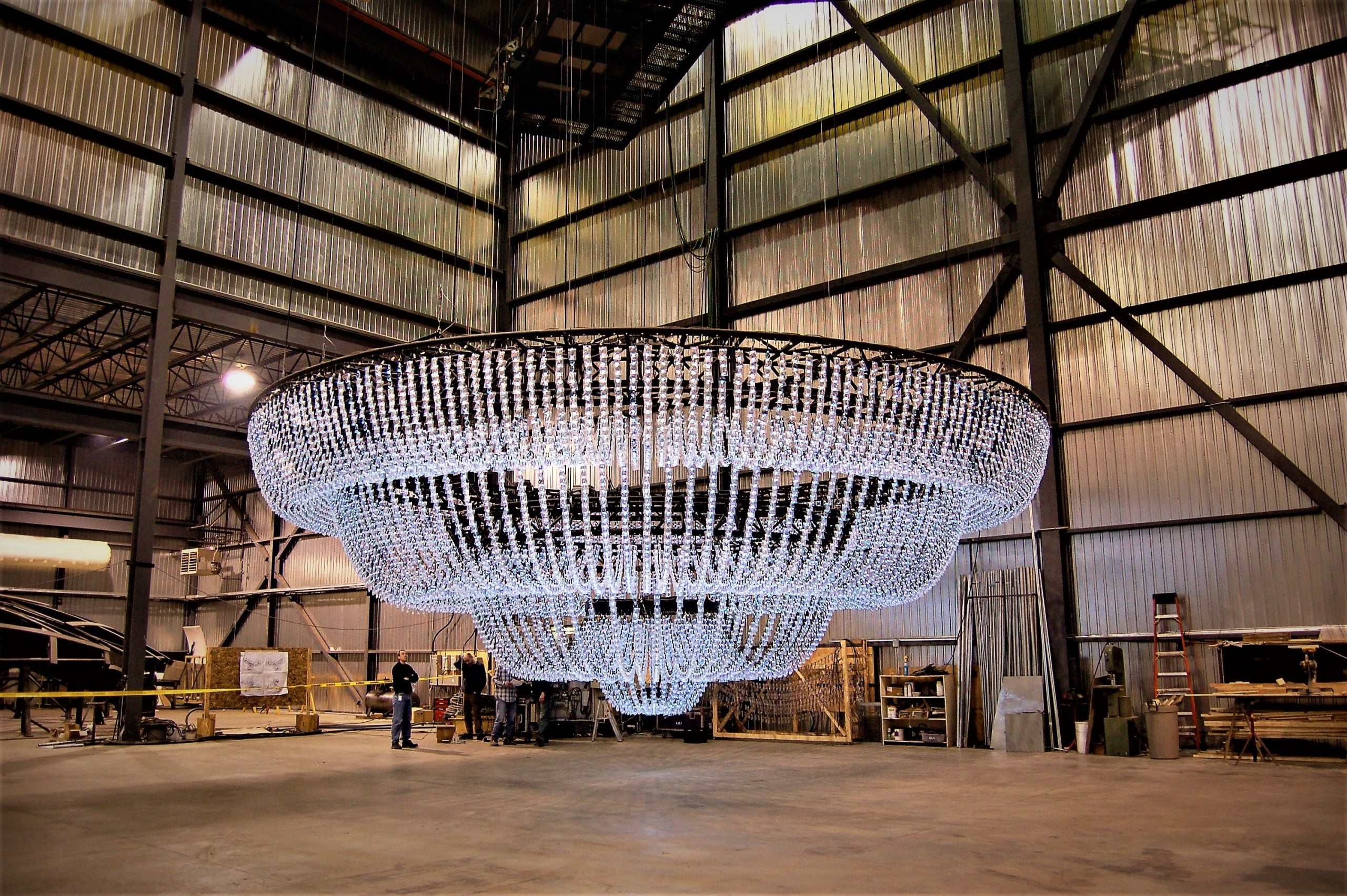 Chandelier in Workshop