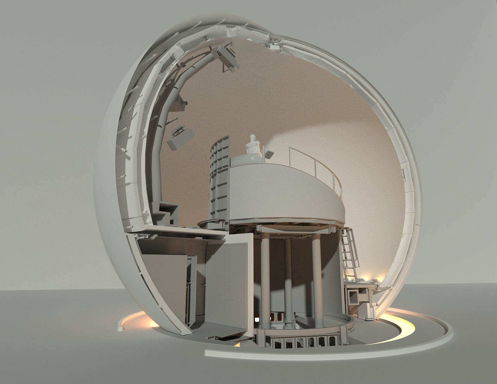 Sphere Turntable & Lift - Rendering